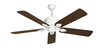 """Picture of Hercules Pure White with 52"""" Distressed Walnut Blades"""