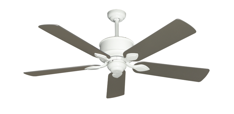 """Picture of Hercules Pure White with 52"""" Satin Steel (painted) Blades"""