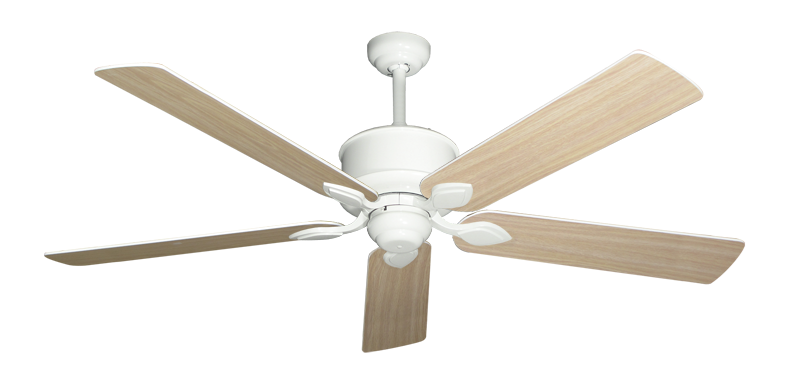 """Picture of Hercules Pure White with 60"""" Bleached Oak Gloss Blades"""