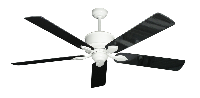 """Picture of Hercules Pure White with 60"""" Black Gloss Blades"""