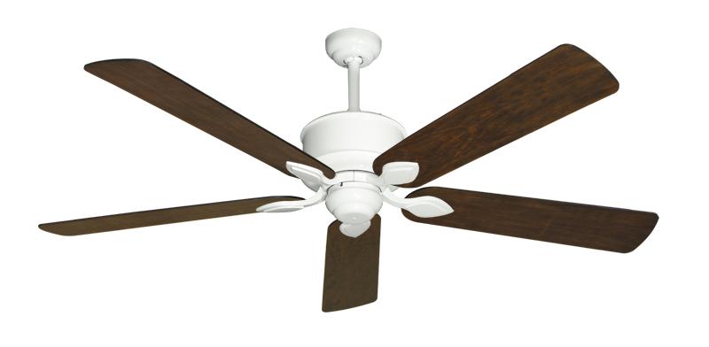 "Picture of Hercules Pure White with 60"" Distressed Walnut Blades"