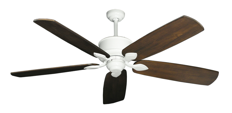 """Picture of Hercules Pure White with 60"""" Series 725 Arbor Dark Walnut Blades"""