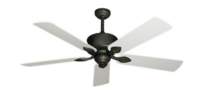 "Picture of Hercules Oil Rubbed Bronze with 52"" Pure White Blades"