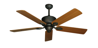 "Picture of Hercules Oil Rubbed Bronze with 52"" Teak Blades"
