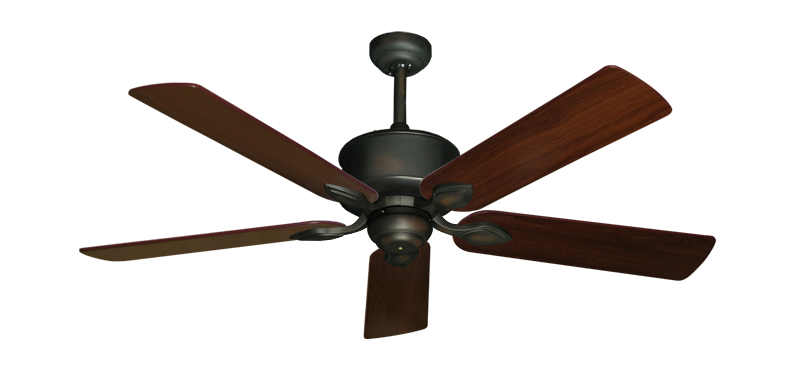 "Picture of Hercules Oil Rubbed Bronze with 52"" Walnut Blades"