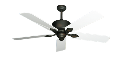 "Picture of Hercules Oil Rubbed Bronze with 52"" Pure White Gloss Blades"