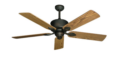 "Picture of Hercules Oil Rubbed Bronze with 52"" Oak Gloss Blades"