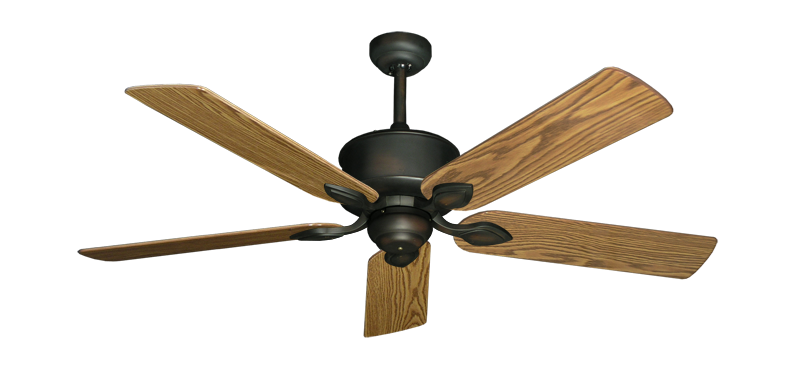 """Picture of Hercules Oil Rubbed Bronze with 52"""" Oak Gloss Blades"""