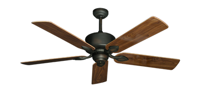 "Picture of Hercules Oil Rubbed Bronze with 52"" Walnut Gloss Blades"