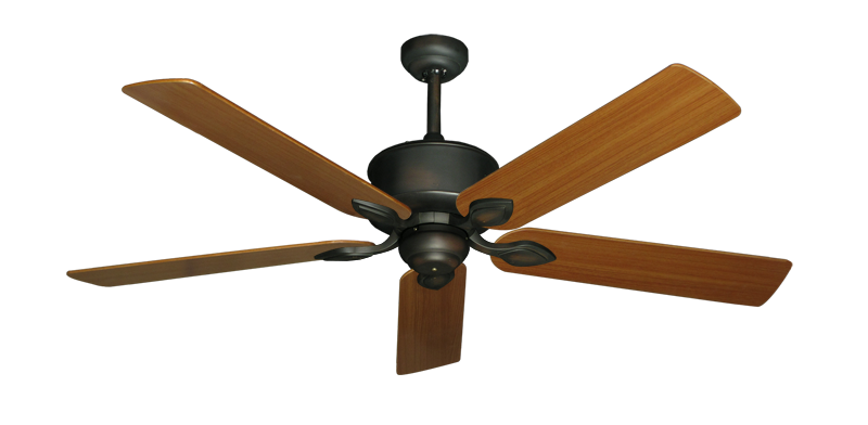 """Picture of Hercules Oil Rubbed Bronze with 56"""" Teak Blades"""