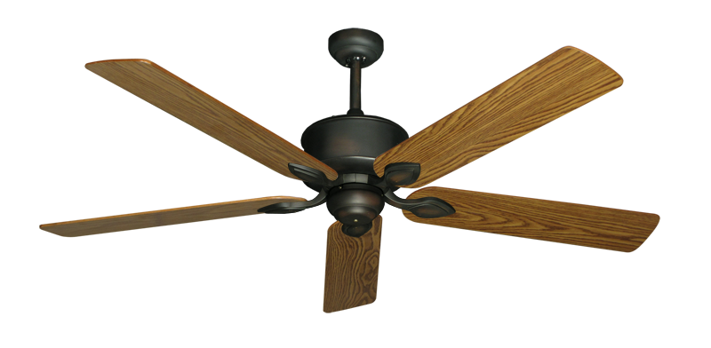 """Picture of Hercules Oil Rubbed Bronze with 60"""" Oak Gloss Blades"""