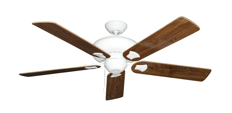 """Picture of Tiara Pure White with 56"""" Walnut Gloss Blades"""