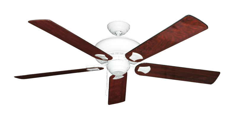 "Picture of Tiara Pure White with 60"" Cherrywood Gloss Blades"