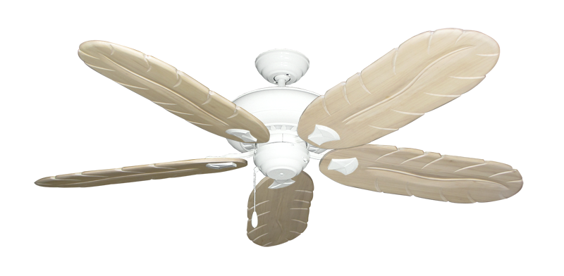 """Picture of Tiara Pure White with 58"""" Series 500 Arbor Whitewash Blades"""