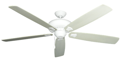 """Picture of Tiara Pure White with 72"""" Series 750 Arbor Whitewash Blades"""