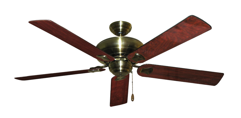 """Picture of Tiara Antique Brass with 60"""" Cherrywood Gloss Blades"""