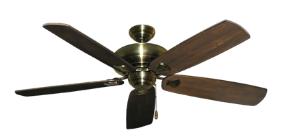 "Picture of Tiara Antique Brass with 60"" Series 725 Arbor Dark Walnut Blades"