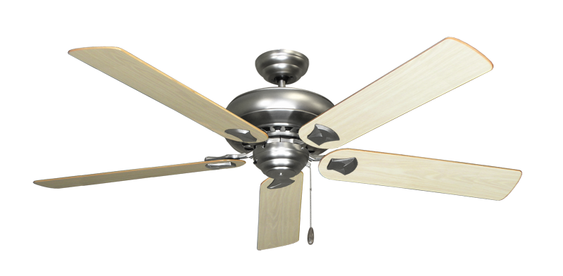 """Picture of Tiara Satin Steel with 60"""" Bleached Oak Gloss Blades"""