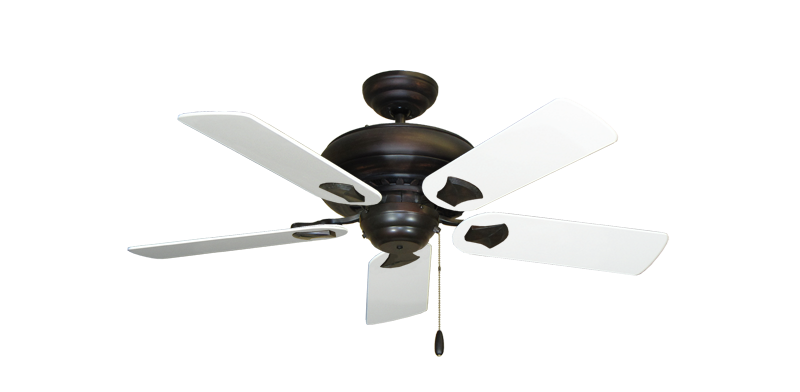 "Picture of Tiara Oil Rubbed Bronze with 44"" Pure White Blades"