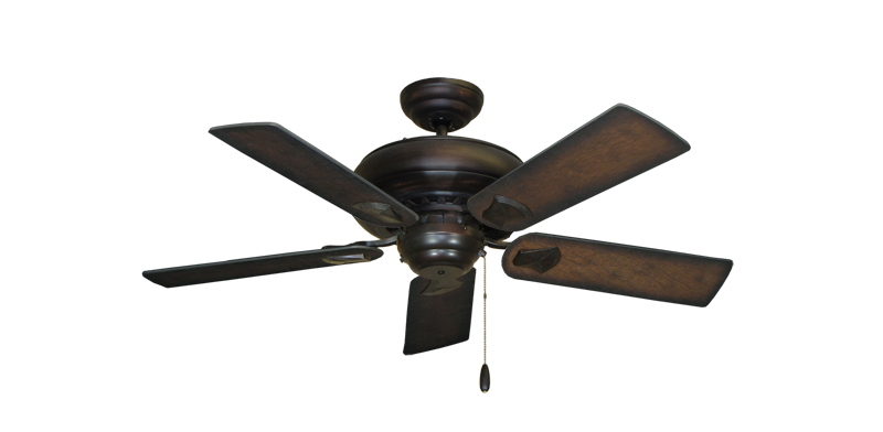 "Picture of Tiara Oil Rubbed Bronze with 44"" Distressed Hickory Blades"