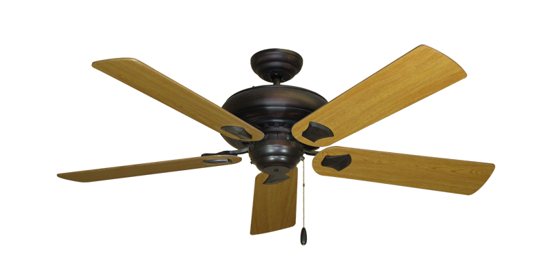 "Picture of Tiara Oil Rubbed Bronze with 52"" Honey Oak Blades"