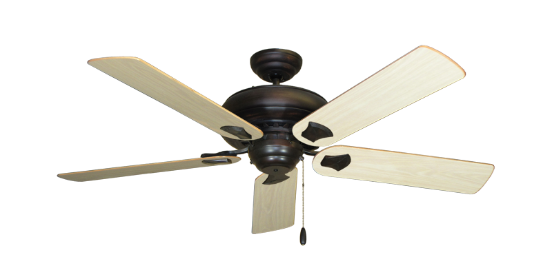 """Picture of Tiara Oil Rubbed Bronze with 52"""" Bleached Oak Gloss Blades"""