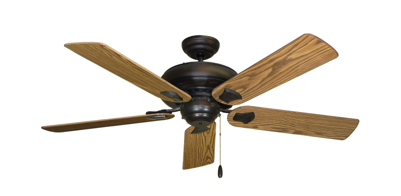 """Picture of Tiara Oil Rubbed Bronze with 52"""" Oak Gloss Blades"""