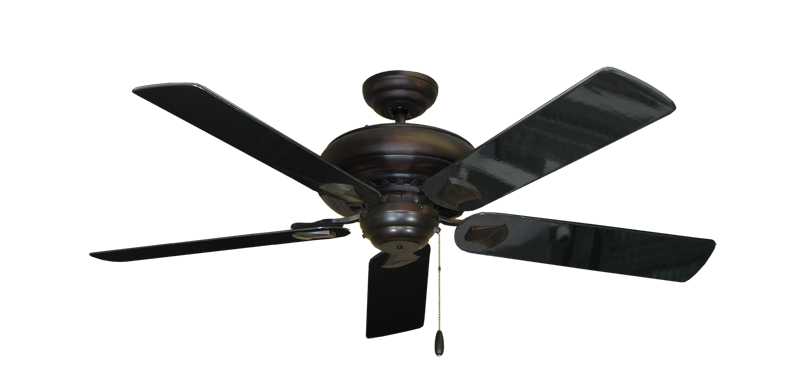 "Picture of Tiara Oil Rubbed Bronze with 52"" Black Gloss Blades"
