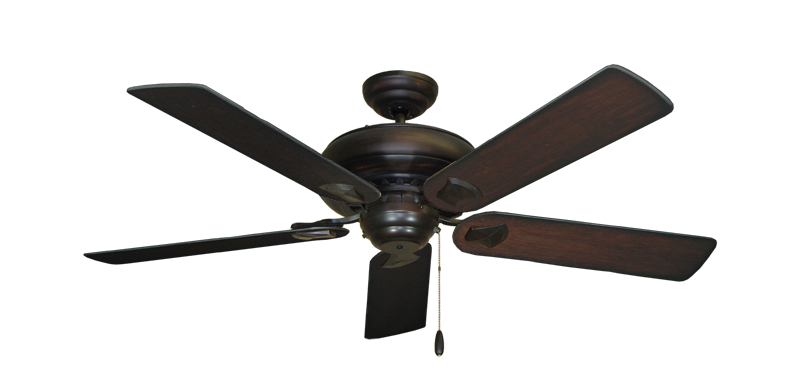 """Picture of Tiara Oil Rubbed Bronze with 52"""" Distressed Cherry Blades"""