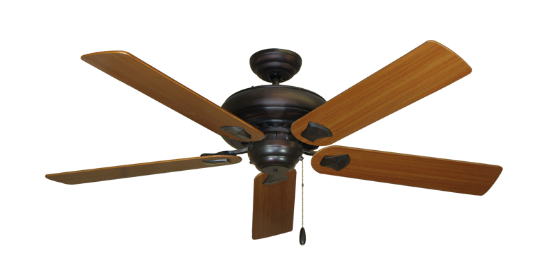"""Picture of Tiara Oil Rubbed Bronze with 56"""" Teak Blades"""