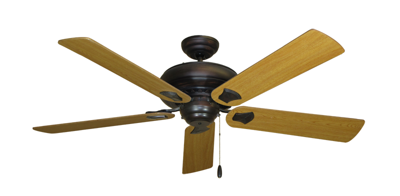 """Picture of Tiara Oil Rubbed Bronze with 56"""" Honey Oak Blades"""
