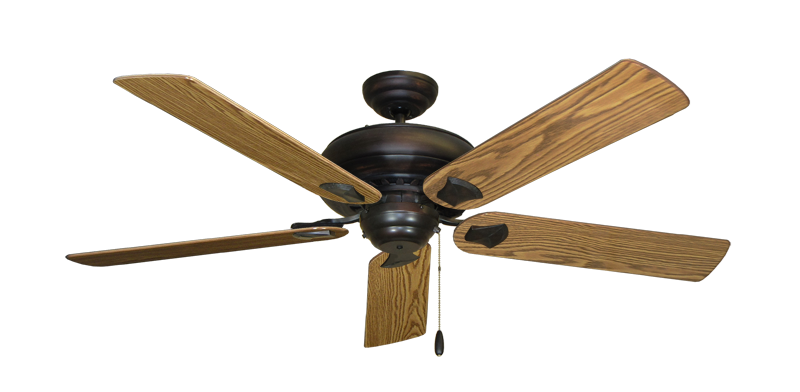 "Picture of Tiara Oil Rubbed Bronze with 56"" Oak Gloss Blades"