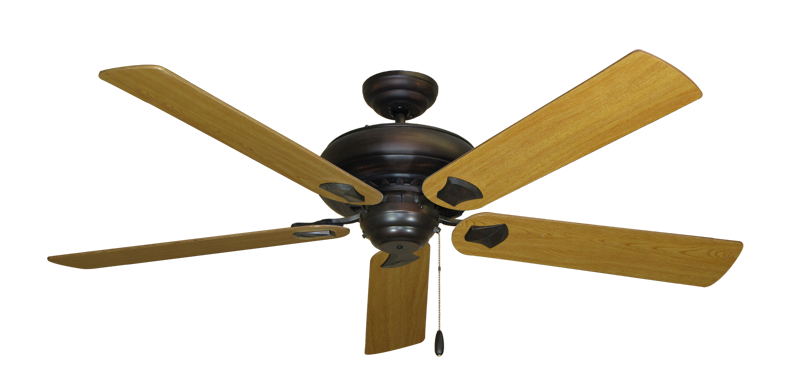 "Picture of Tiara Oil Rubbed Bronze with 60"" Honey Oak Blades"