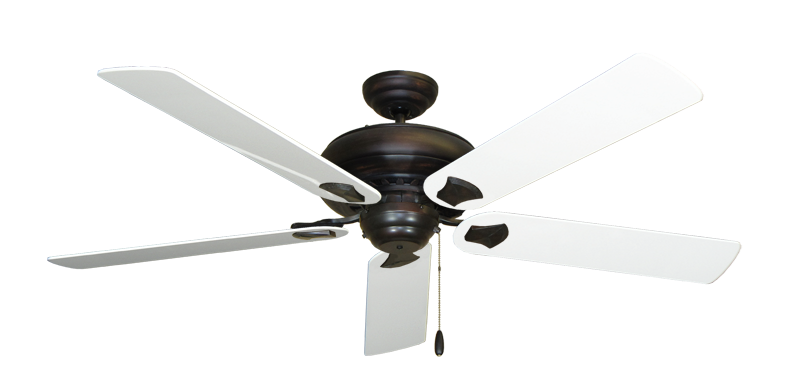 """Picture of Tiara Oil Rubbed Bronze with 60"""" Pure White Gloss Blades"""