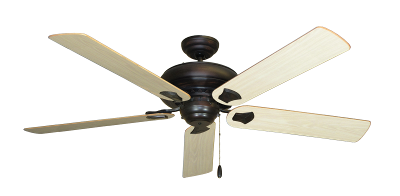 "Picture of Tiara Oil Rubbed Bronze with 60"" Bleached Oak Gloss Blades"