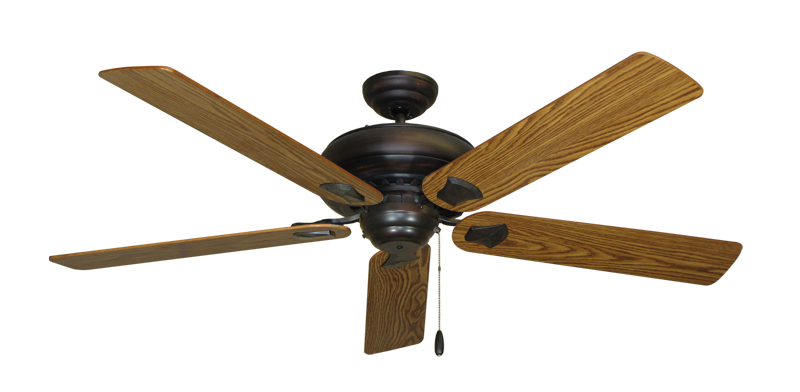 """Picture of Tiara Oil Rubbed Bronze with 60"""" Oak Gloss Blades"""