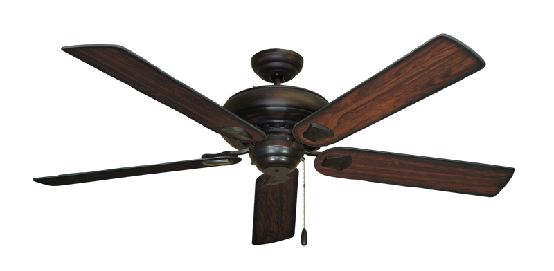"""Picture of Tiara Oil Rubbed Bronze with 60"""" Burnt Cherry Blades"""