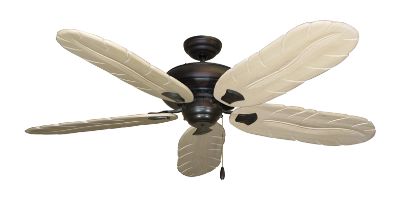 "Picture of Tiara Oil Rubbed Bronze with 58"" Series 500 Arbor Whitewash Blades"