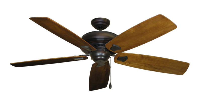 """Picture of Tiara Oil Rubbed Bronze with 60"""" Series 725 Arbor Oak Blades"""