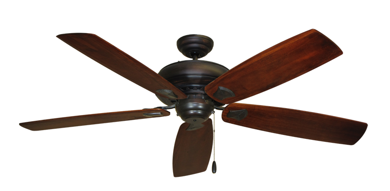 "Picture of Tiara Oil Rubbed Bronze with 60"" Series 725 Arbor Cherrywood Blades"