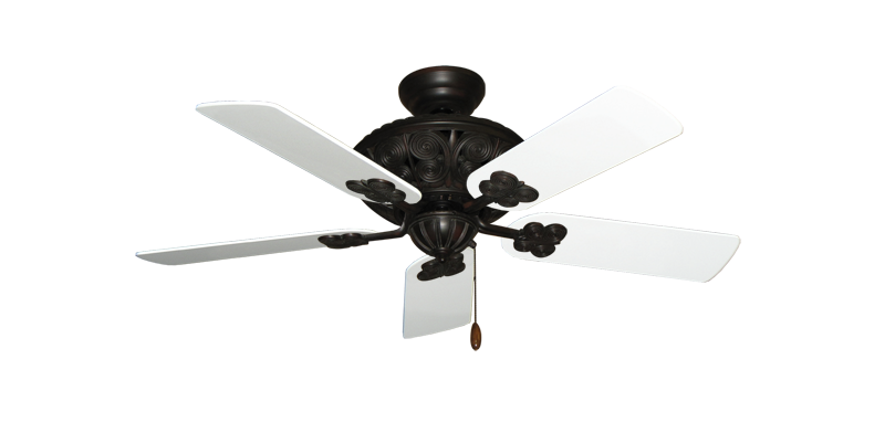 """Picture of Monarch Oil Rubbed Bronze with 44"""" Pure White Blades"""