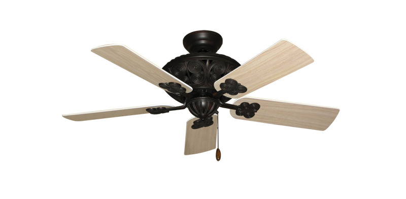 "Picture of Monarch Oil Rubbed Bronze with 44"" Bleached Oak Blades"