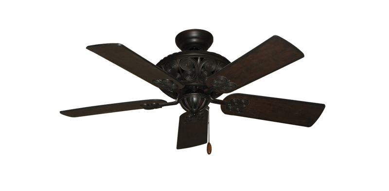 """Picture of Monarch Oil Rubbed Bronze with 44"""" Distressed Walnut Blades"""