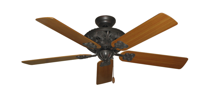 "Picture of Monarch Oil Rubbed Bronze with 52"" Teak Blades"