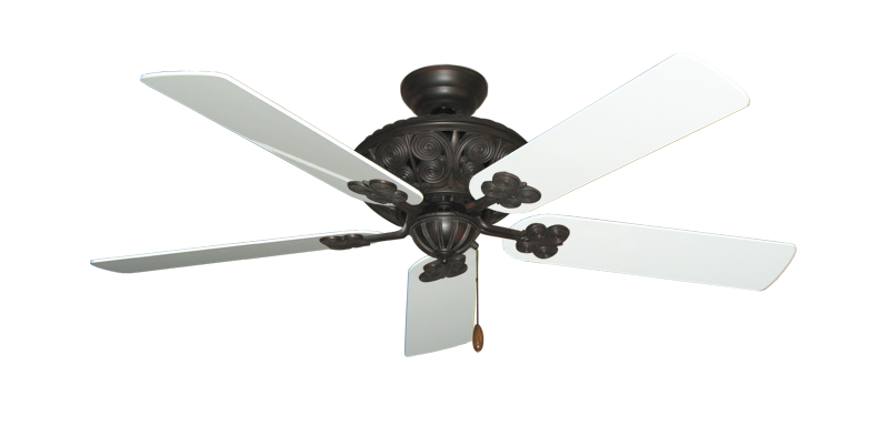 "Picture of Monarch Oil Rubbed Bronze with 52"" Pure White Gloss Blades"