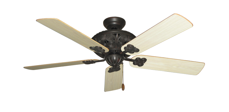 """Picture of Monarch Oil Rubbed Bronze with 52"""" Bleached Oak Gloss Blades"""