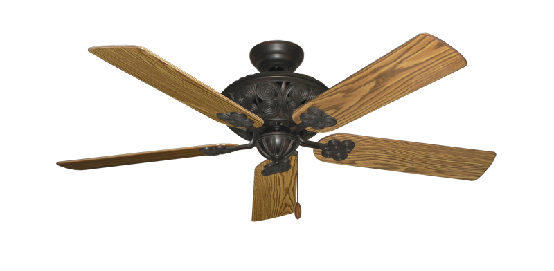 "Picture of Monarch Oil Rubbed Bronze with 52"" Oak Gloss Blades"