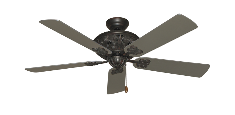 """Picture of Monarch Oil Rubbed Bronze with 52"""" Satin Steel (painted) Blades"""
