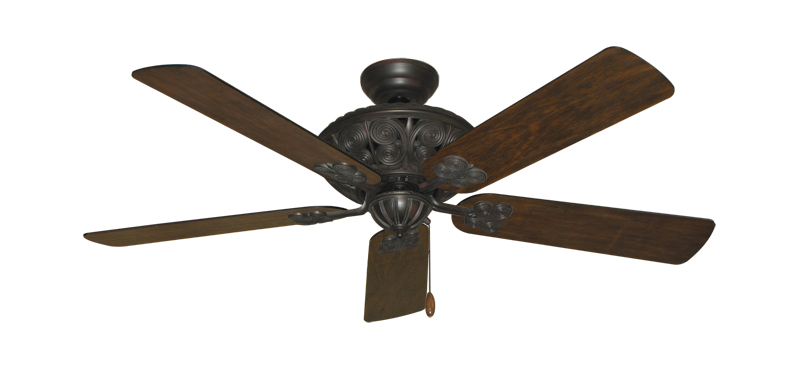 """Picture of Monarch Oil Rubbed Bronze with 52"""" Distressed Walnut Blades"""