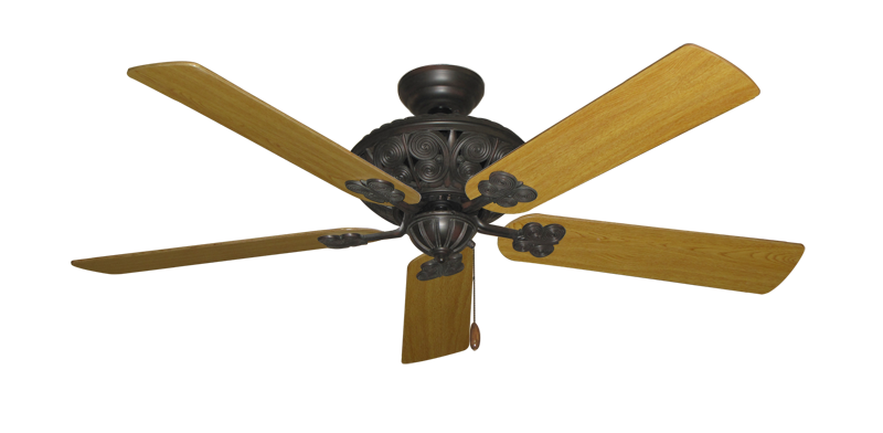 """Picture of Monarch Oil Rubbed Bronze with 56"""" Honey Oak Blades"""